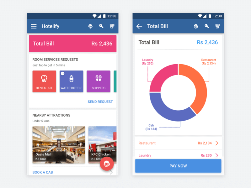 Hotel Stay App - Making Stay Comfortable - Kumar Gaurav User Experience (UX) Designer