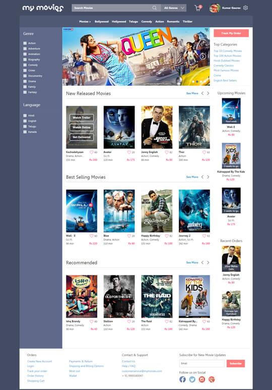 Online Movie Store Concept - Kumar Gaurav User Experience (UX) Designer