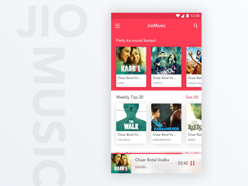JioMusic App Design - Kumar Gaurav User Experience (UX) Designer