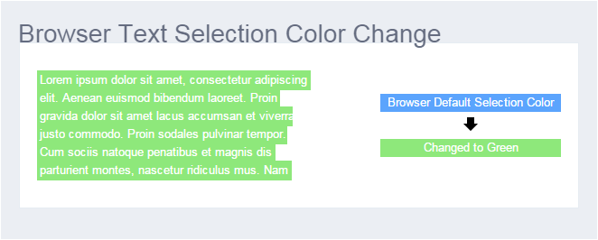 CSS Browser Text Selection Color Change - UXINME