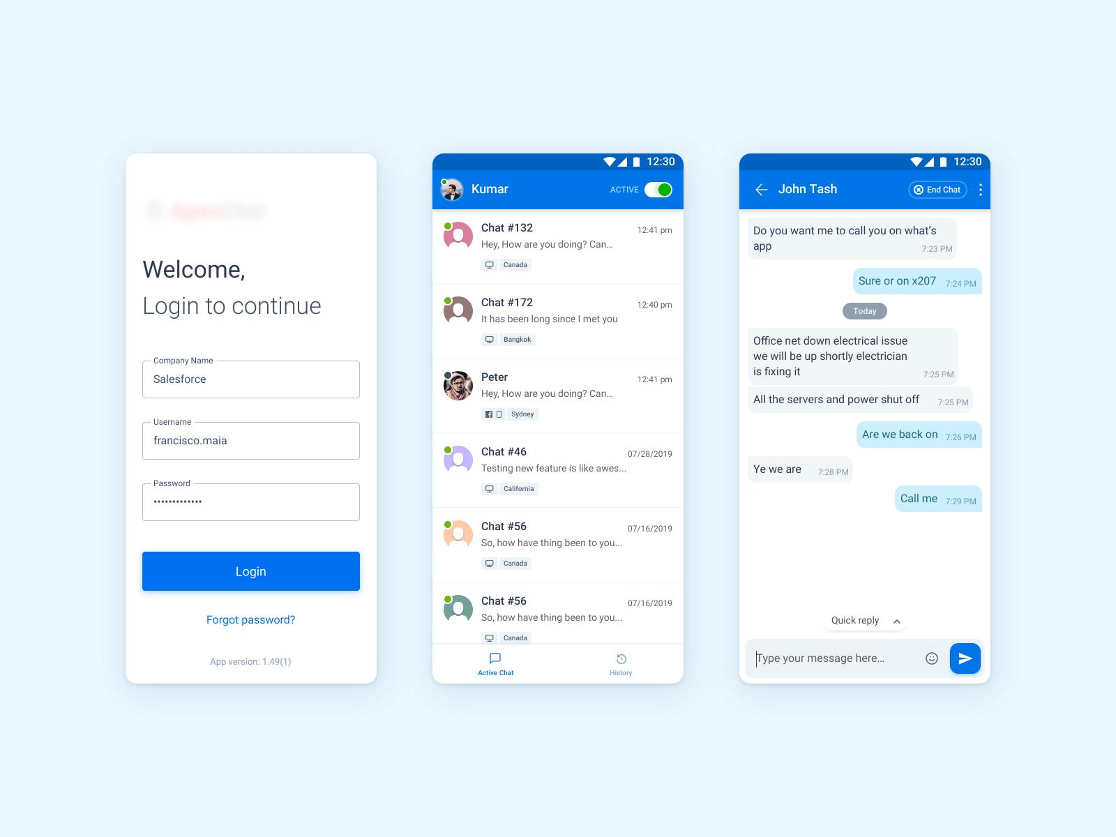 Chat App - Light Theme