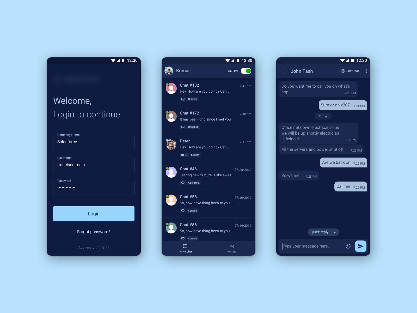 Chat App - Dark Theme